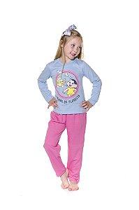 Pijama Infantil Moletinho Magali - Turma da Mônica - Rosa e Azul