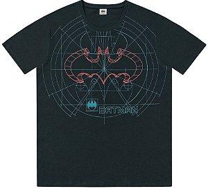 Camiseta Adulto Batman Manga Curta Estilo Urban Cinza Chumbo - Fakini