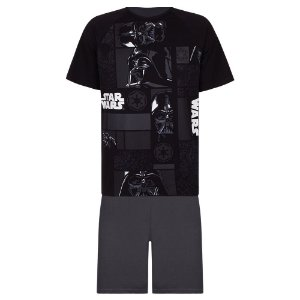Pijama Adulto Darth Vader Star Wars -  Preto - Linha Urban Lupo
