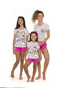 Pijama Short Doll Mônica - Coleção Mãe e Filha - Turma da Mônica