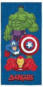 Toalha Aveludada do Avengers - Azul - Lepper