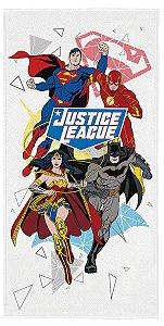 Toalha Aveludada do Liga da Justiça - Branca - Lepper