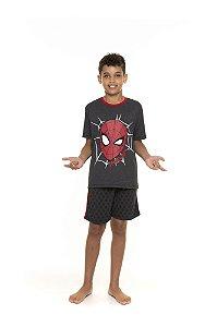 Pijama juvenil Homem Aranha Marvel - Cinza Grafite