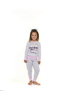 Pijama Arco Íris - Cinza e Rosa
