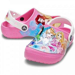 Crocs Infantil Princesas da Disney - Rosa Limonada