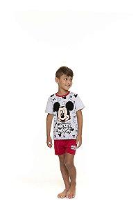 Pijama Infantil Mickey Disney - Branco e Vermelho