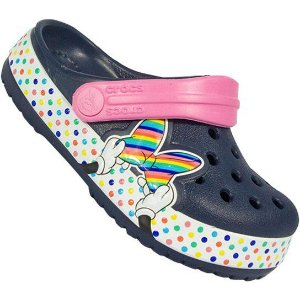 Crocs Minnie com estampa de Lacinho - Azul e Rosa