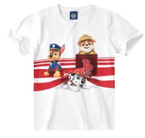 Camiseta Patrulha Canina - Branca - Malwee