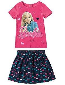 Conjunto de Blusa e Shorts Saia da Barbie