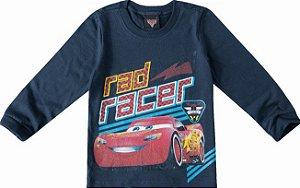 Camiseta Mcqueen - Carros - Red Racer - Azul Marinho - Malwee