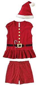 PijamaShort DollI Infantil Natal - Vermelho - Malwee