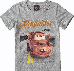 Camiseta Infantil Carros Tow Mater Cinza - Malwee