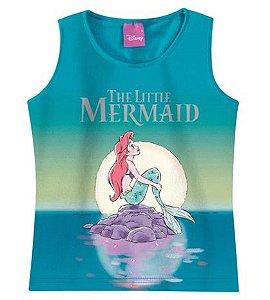 Blusa Regata Princesa Ariel - Disney - Verde Tie Dye - Malwee