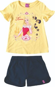 Conjunto Princesa Aurora Disney - Amarela e Azul Marinho - Malwee