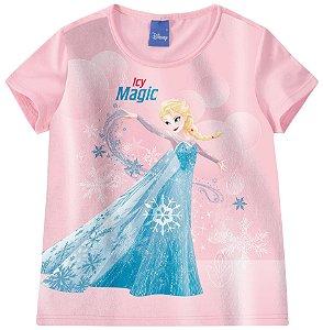 Blusa Infantil Frozen Be Magic Rosa Claro - Malwee