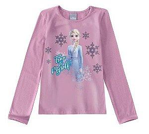 Blusa Rainha Elsa - Disney Frozen 2 - Lilás -Malwee