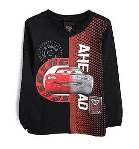 Camiseta Lightning McqQueen - Carros - Preta - Malwee