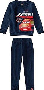 Conjunto de Blusa de Moletom e Calça dos Carros - Azul Marinho