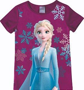 Blusa Disney Frozen 2 - Elsa - Roxo - Malwee