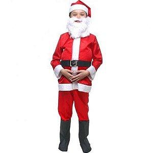 Fantasia Infantil de Papai Noel - Vermelha e Branca - Infantil