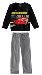 Conjunto de Blusa de Moletom e Calça dos Carros - Preto