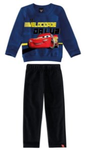 Conjunto Infantil de Moletom Carros Azul - Malwee