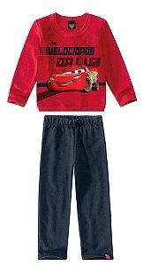 Conjunto de Blusa de Moletom e Calça dos Carros - Vermelho
