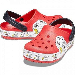 Crocs do Snoopy e Woodstock - Vermelho