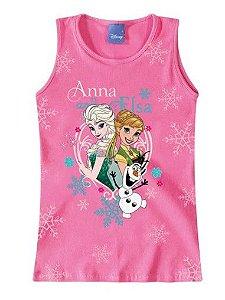 Blusa Elsa e Anna - Disney Frozen - Rosa - Malwee