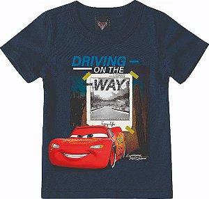 Camiseta Infantil Menino Carros Azul Marinho - Malwee