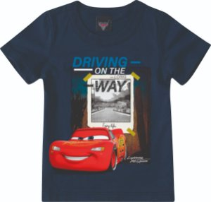 Camiseta Carros Mcqueen - Azul Marinho - Malwee