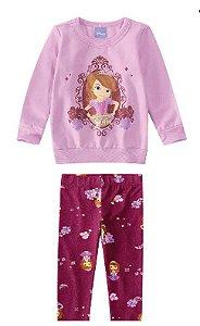 Conjunto Infantil Princesa Sofia Disney - Lilás e Bordô - Malwee