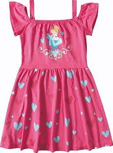 Vestido da Princesa Cinderela - Princesas da Disney - Rosa