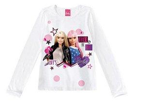 Blusa Barbie - Best Friends - Branca - Malwee