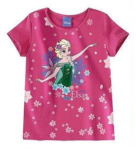 Blusa da Elsa Disney Frozen - Rosa - Malwee