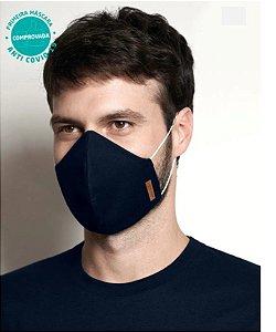 Kit 2 Máscaras Viroblock® - Anti Viral Malwee Protege - Branca e Azul Marinho - Adulto - Masculino - Tripla Proteção