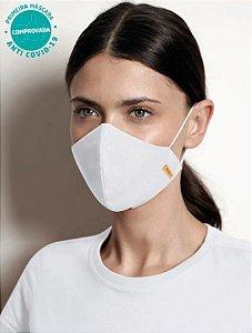 Kit 2 Máscaras Viroblock® - Anti Viral Malwee Protege - Branca e Preto - Adulto - Feminina - Tripla Proteção