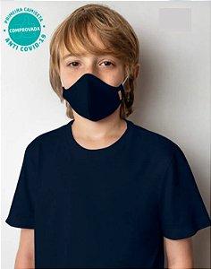 Camiseta Viroblock® Infanto Juvenil - Anti Viral Malwee Protege - Azul Marinho