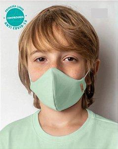 COMBO Camiseta Verde e Kit 2 Máscaras Viroblock® Infanto Juvenil - Anti Viral Malwee Protege