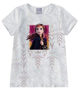 Roupa da Anna - Blusa da Princesa Anna - Frozen 2 - Cinza - Malwee
