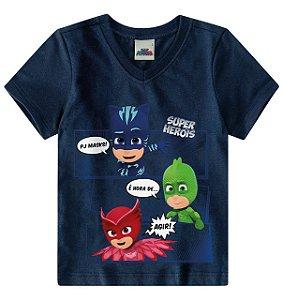 Camiseta PJ Masks - Azul Marinho - Malwee