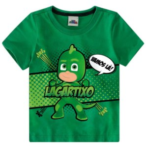 Camiseta PJ Masks - Verde - Malwee