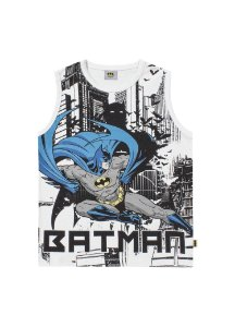 Regata Batman Liga da Justiça - Branco - Fakini