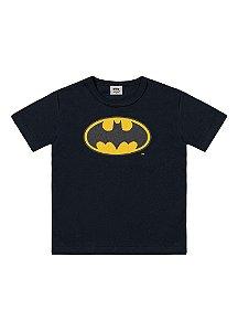 Camiseta Baby do Batman - Liga da Justiça -Preta - Fakini