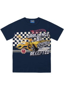 Camiseta Hot Wheels - Azul Marinho - Fakini