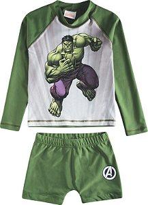 Conjunto Proteção UV 50 FPS  - Hulk - Verde - Tiptop