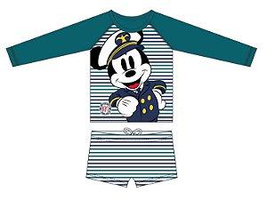 Conjunto Infantil Mickey Disney Proteção UV 50 FPS - Verde - Tiptop