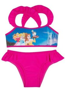 Biquini Infantil Princesas da Disney Violeta - Tiptop
