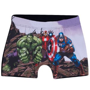 Sunga Boxer do Avengers - Cinza Grafite - Tiptop