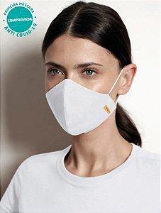 Kit 2 Máscaras Viroblock - Branca e Preto - Adulto - Tripla Proteção Malwee